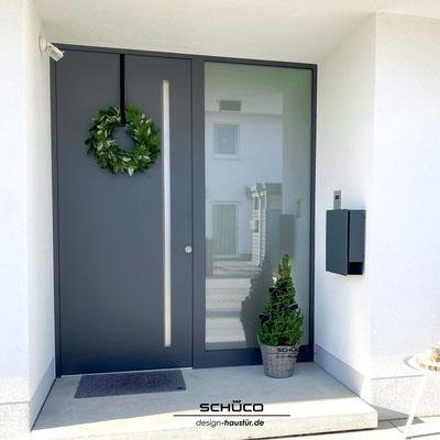 Aluminium Eingangstüre mit Griffmulde günstig kaufen