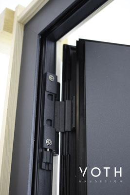 3-teilige Rollentürbänder, sehr leicht zum einstellen