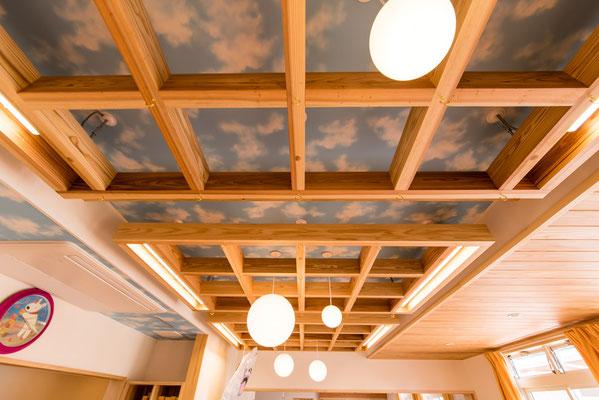 横になっていても、天井には青空が広がっています。
