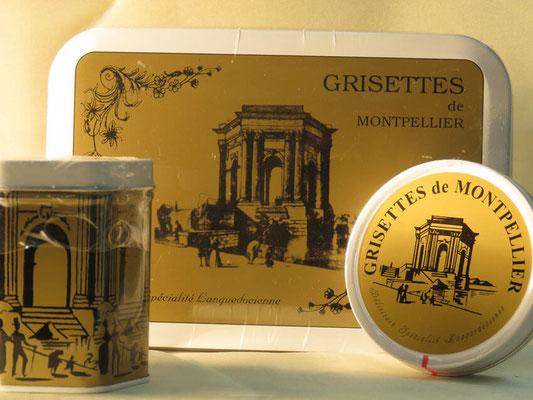 Grisettes de Montepllier en détail ou en boîte