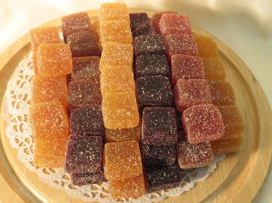 Les pâtes de fruits au détail ou en boîte