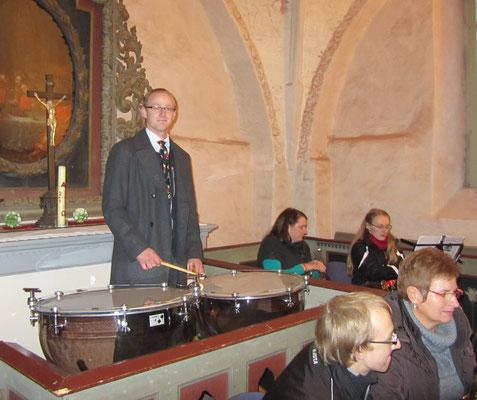 """2013 - """"Bläsermusik im Kerzenschein"""" in Mellenthin auf Usedom (Pos.-Chor Bansin)"""