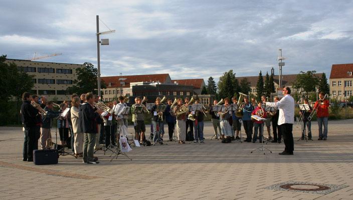 2009 beim Serenadeblasen in Greifswald (16. Landesposaunenfest)