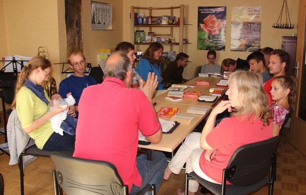 2015 in Bansin bei der Bibelarbeit