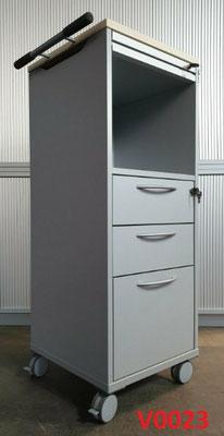 4x rollbarer Büroschrank Aktenschrank Caddy Postschrank
