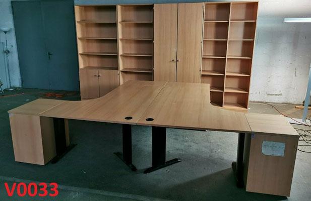 PALMBERG Büromöbel Aktenschrank + Schreibtisch + Tischcontainer