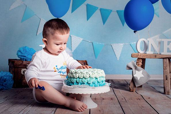 Cake Smash Shooting zum 1. Geburtstag