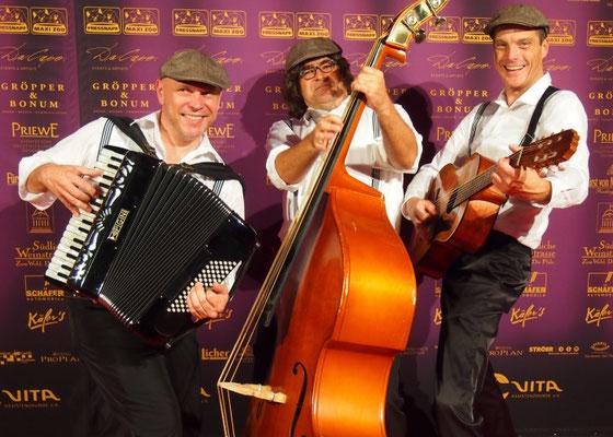Herrenkombo - mobile Band zu Empfang der Gäste am roten Teppich