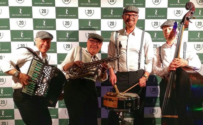 Herrenkombo - mobile Band zur Gala 20 Jahre Golfclub St. Leon-Rot