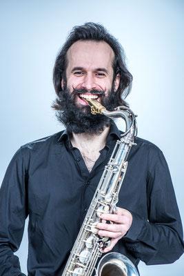 Peter am Saxophon