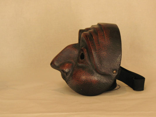 Theatermaske aus Ledermaske