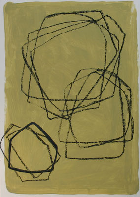 Sibylle Werkmeister, 70 x 100 cm, Acryl, Ölkreide, Tusche auf Papier