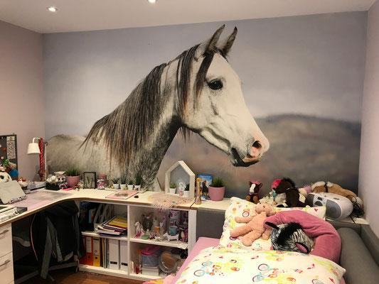 malereck Fototapete Pferd Kinderzimmer