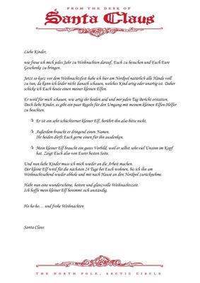 30.11. - Brief vom Weihnachtsmann