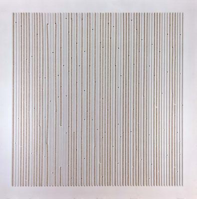 Repetition, 80 x 80 cm,  Mdf en spuitverf
