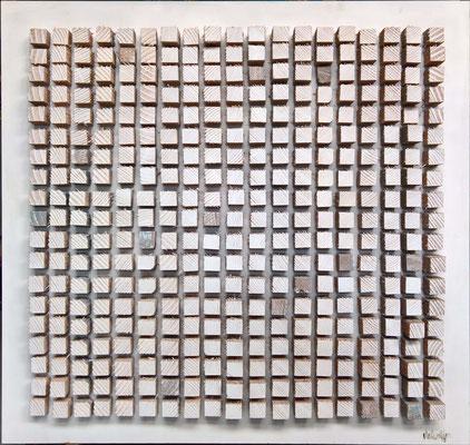 """361"" , 80 x 80 cm,  mdf en oregon pine"