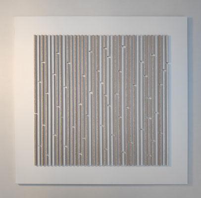 Repetition 2, 50 x 50 cm,  mdf en spuitverf