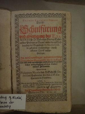 Eine spätere Schrift: eine Schulordnung für Hamburg