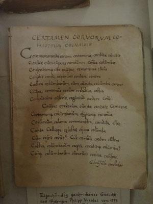 Ein Übungsgedicht Nicolais: alle Worte beginnen mit C