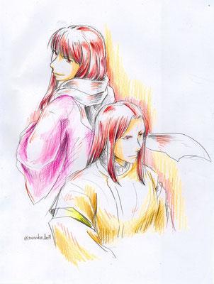 紅雀と朱燕(くじゃくとしゅえん)