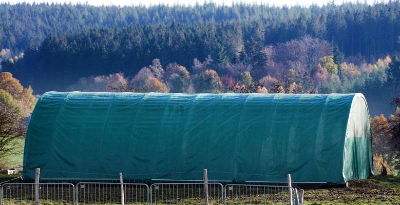 8x12 m Zelt auf der Weide
