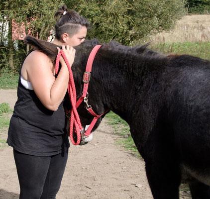 Esel-Projekt Teilnehmerin mit Léon