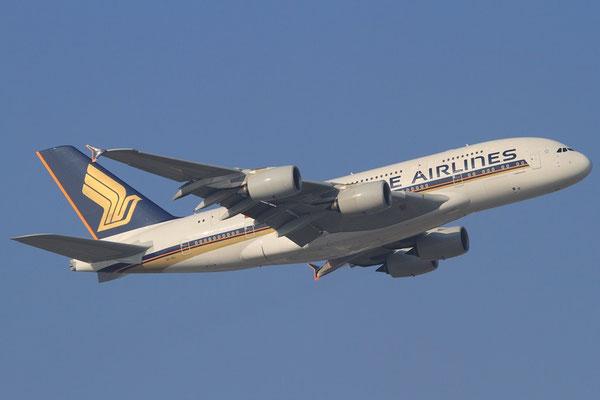 FRA 01.02.2012; 9V-SKL Airbus A 380 Singapore Airlines