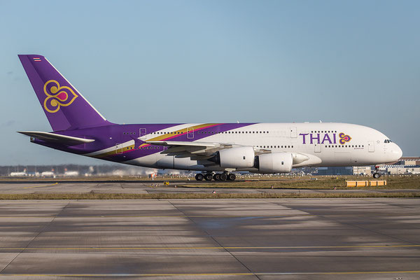FRA 08.01.2016; HS-TUE, Thai Airways Airbus A380-841