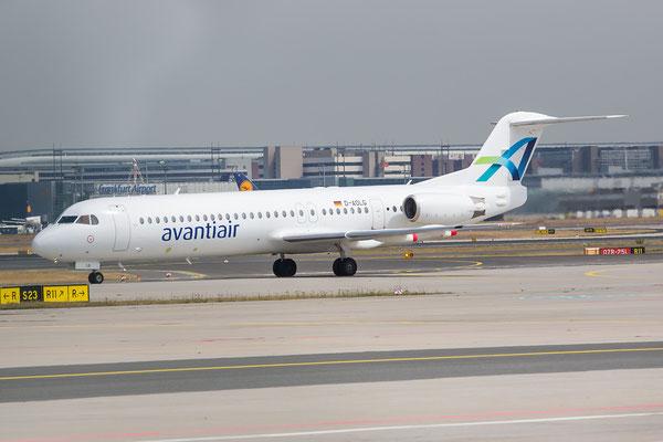 FRA 25.06.2015; D-AOLG; Fokker 100; Avanti Air (ex. TABA, ex. TAM, ex. Girjet, ex. OLT)