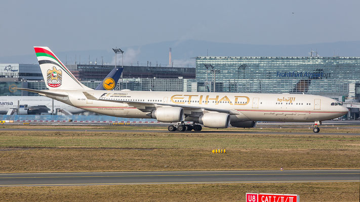 FRA 18.02.2016; A6-EHD, Etihad Airways Airbus A340-541
