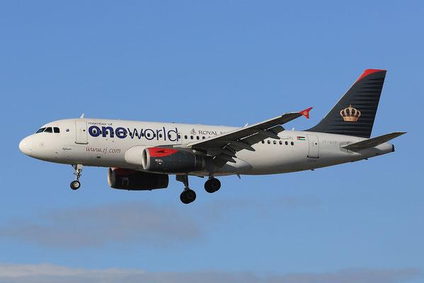 FRA 17.2.2014; JY-AYP; Royal Jordanian Airlines Airbus 319-132
