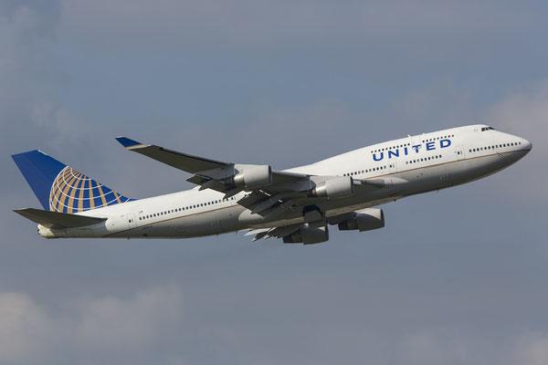 FRA 27.09.2014; N117UA United Airlines Boeing 747-422