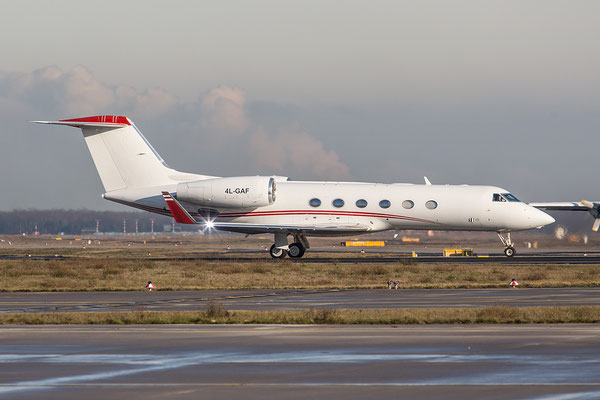 FRA 25.01.2016; 4L-GAF, Airzena Georgian Airways Gulfstream 450