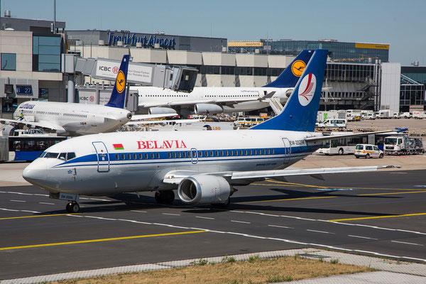 FRA 10.07.2015: EW-252PA; Boeing 737-524; Belavia (former flyLAL LY-AGZ, former Continental N19636)