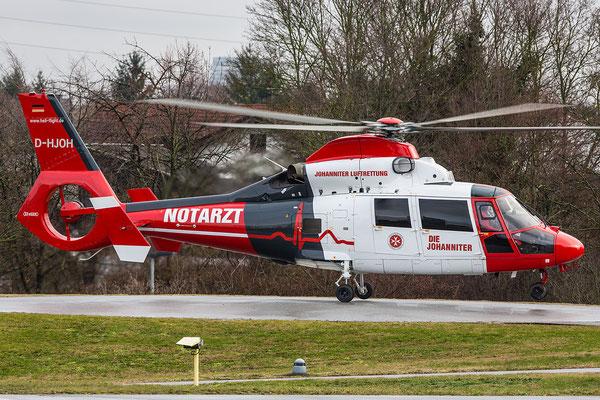 BG Unfallklinik Ludwigshafen 06.01.2016; D-HJOHAerospatiale AS 365N3 Dauphin II Heliflight GmbH