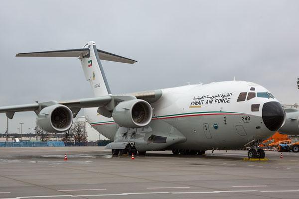 FRA 25.01.2015; KAF343, C-17A Kuwait Air Force