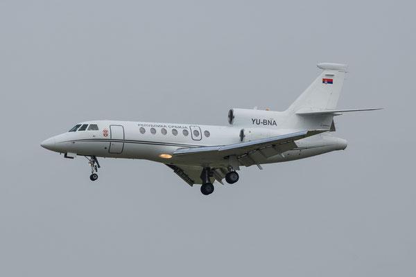 FRA 27.09.2014; YU-BNA Republik Serbien Falcon 50