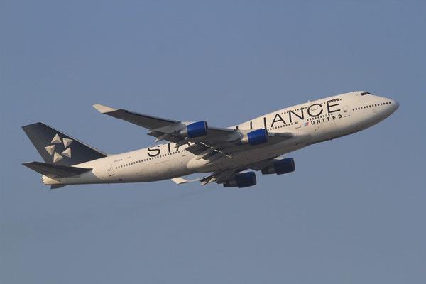 FRA 01.02.2012; N121UA Boeing 747-400 United Airlines