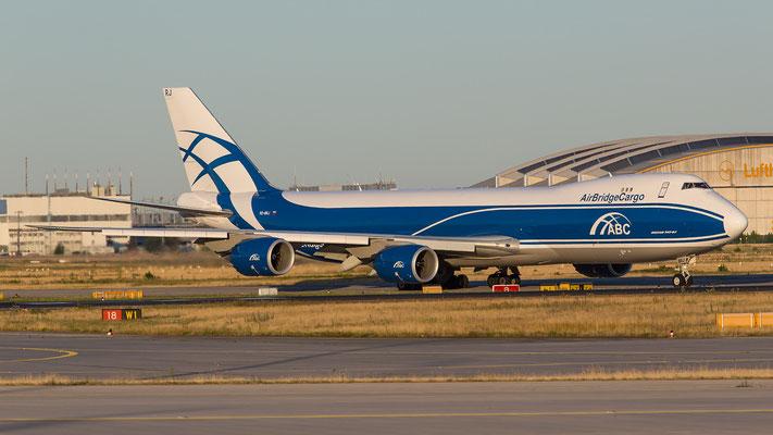FRA 10.07.2015: VQ-BRJ, Boeing 747-8HVF; Air Bridge Cargo