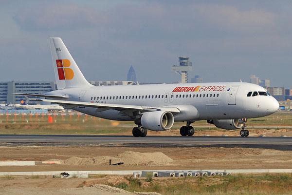 FRA 28.10.2012; EC-HUJ Airbus A 320 Iberia Express