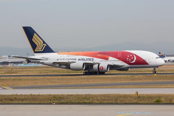 FRA 25.06.2015;  9V-SKI; Airbus A380-841; Singapore Arlines