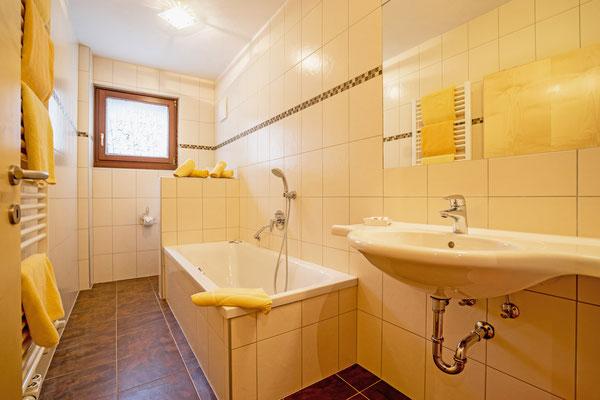 Badezimmer einer Ferienwohnung