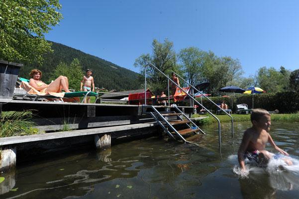 Urlaub am Weissensee im Sommer