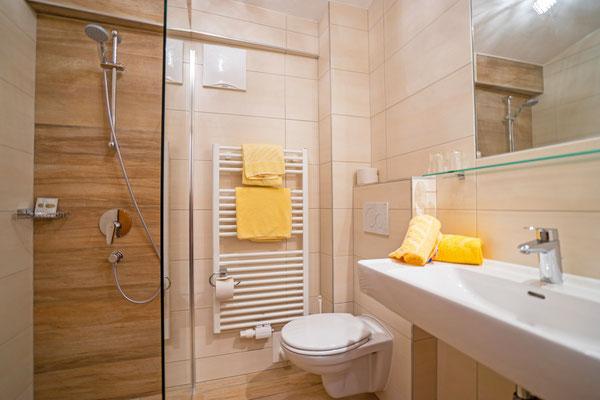Badezimmer in Frühstückspension