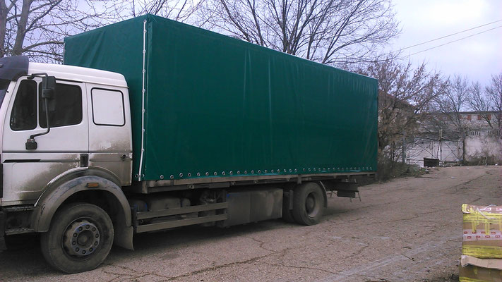 тентовое покрытие на грузовой автотранспорт