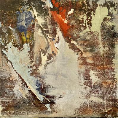 Feuer, Mischtechnik, 40 x 40 cm
