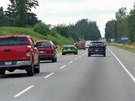 Stau auf dem Trans Canada Highway