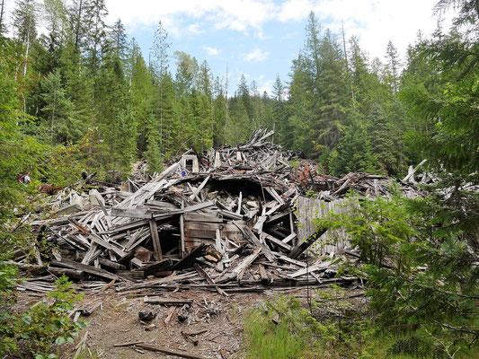 Alte Silbermine, irgendwann ist das gebäude total zusammengefallen