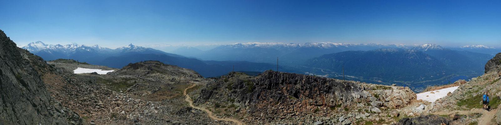 Blick Richtung Norden mit Whistler