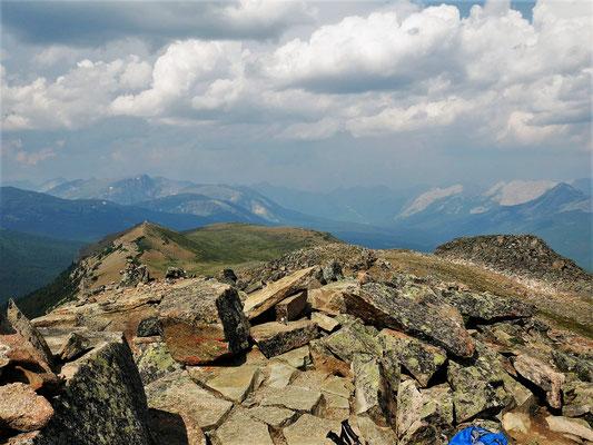 An der höchsten Kuppe der Bald hills